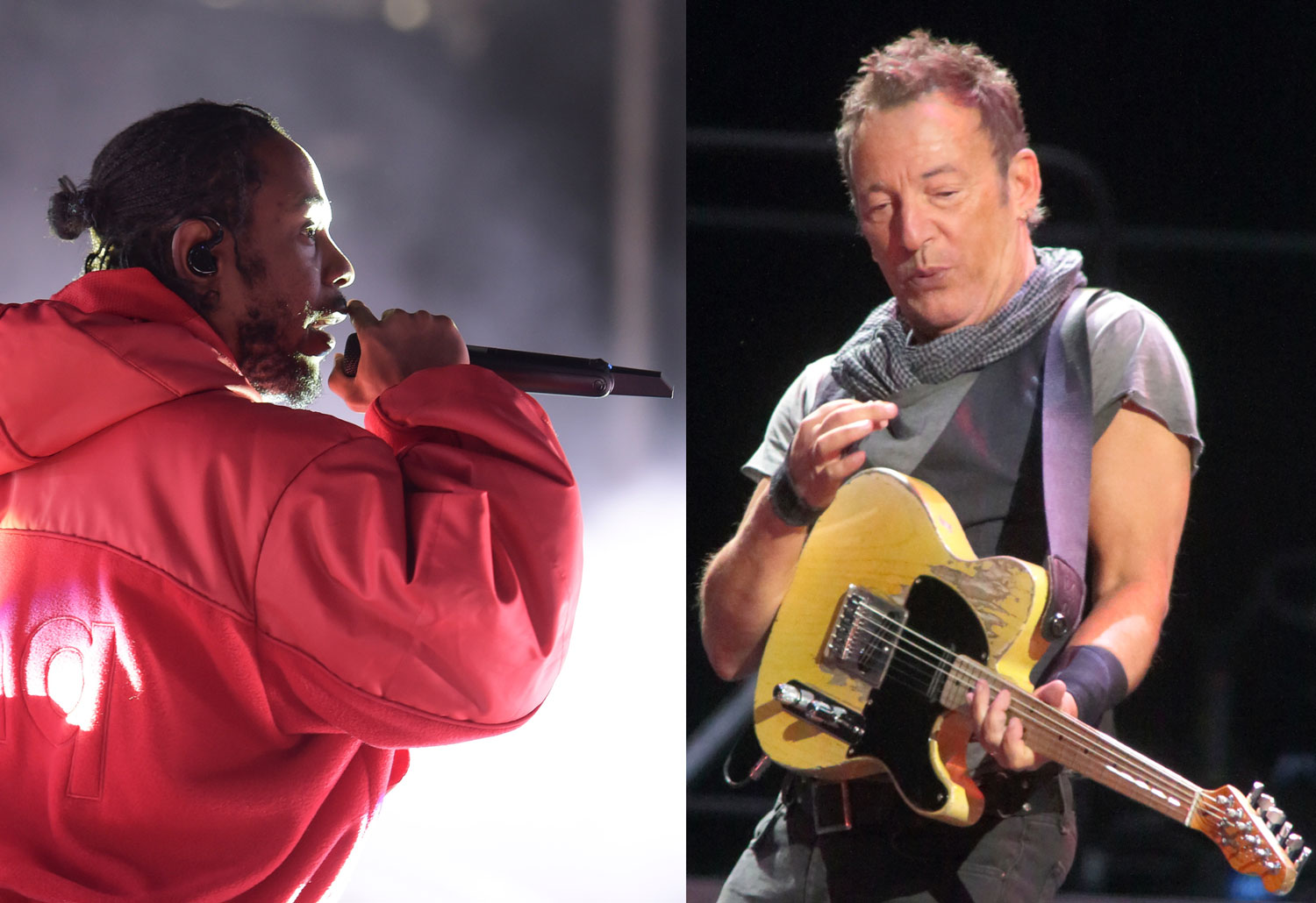 Kendrick Lamar and Bruce Springsteen