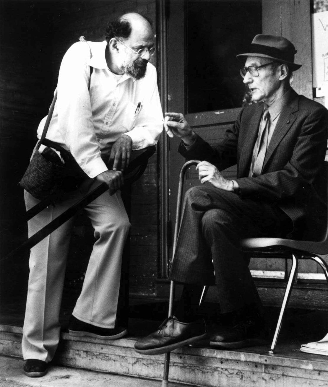 Allen Ginsberg with William S. Burroughs. AP Photo