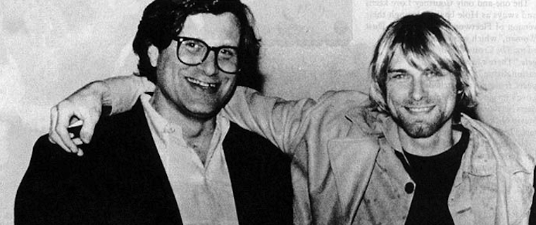 Dann Goldberg with Kurt Cobain in 1992