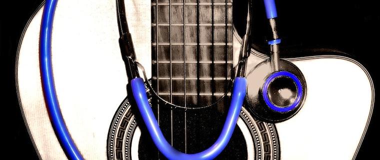 Stethoscope & guitar